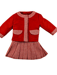 Girl's Dress,Cotton Spring / Fall Red