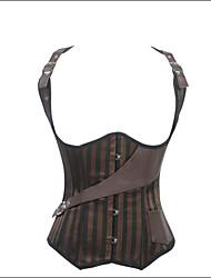Damen Brustkorsett Nachtwäsche einfarbig-Elasthan / Nylon / Polyester Braun Damen
