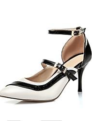 Women's Shoes Stiletto Heel Comfort / Pointed Toe Heels Wedding / Outdoor / Dress / Casual Blue / Pink / Purple / White