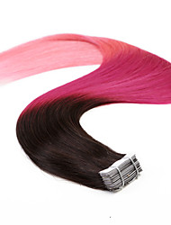 "Neitsi 20"" 50g 20pcs Tape In Human Hair Pu Skin Weft Hair Extensions Straight T2/Rosy/Pink"