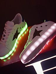 Feminino MasculinoLight Up Shoes-Rasteiro-Azul-Courino-Ar-Livre Casual Para Esporte