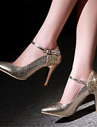Women's Shoes Patent Leather / Glitter Stiletto Heel Heels / Pointed Toe Heels Office & Career / Party & Evening / Red