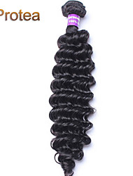 3pcs / lot 8 '' - color negro natural del pelo virginal 26''brazilian rizado cabello humano rizado 100% sin procesar teje