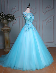 Princess Wedding Dress-Pool Court Train Jewel Lace / Tulle