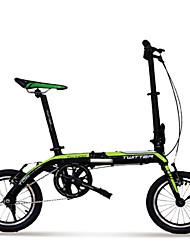 "twitter ® fietsen dubbele v brake 14 ""vouwfiets aluminiumlegering mini bike"