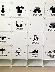 Home Decoration Removable Wall Stickers Bedroom Wardrobe Closet Storage Showcases Identification Wall Stickers
