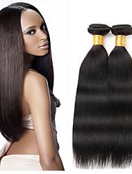 1pcs cabelo humano peruano cabelo liso tece cor natural do cabelo virgem 8-26 polegadas