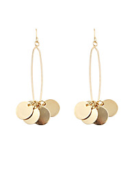 Fashion Women Pin Disc Drop Earrings