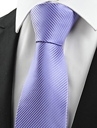 New Striped Lavender Purple Unique Men's Tie Necktie Wedding Holiday Gift #0022