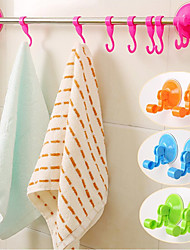 Bathroom Kitchen Wall Sucking Hanger Vacuum Suction Cup Hanger Hooks Towel Racks(Random Color)