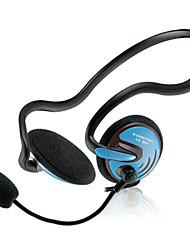 auriculares con cable conector de 3,5 mm (con gancho para la computadora)