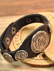 Vilam® Vintage Punk PU leather Bracelet for Man