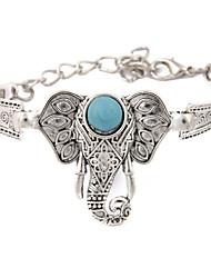 European And American Folk Style Retro Turquoise Elephant Bracelet