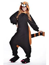 kigurumi Pyjamas New Cosplay® Ours Raton laveur Collant/Combinaison Fête / Célébration Pyjamas Animale Halloween Noir Mosaïque Polaire