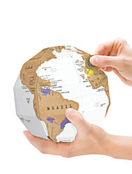 geekfun царапина карта 3d головоломки глобус