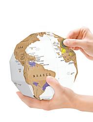 geekfun Scratch Karte Globus 3D-Puzzles