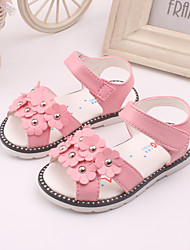 Girl's Sandals Spring Summer Leather Dress Casual Pink Red