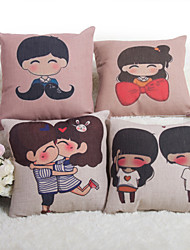 Baolisi Set of 4  Sweethearts Decorative Pillow /Children of the World