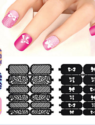 1X12PCS New Style Hollow Out DIY Paster Nail Art Diecut Manicure Stencils Guide
