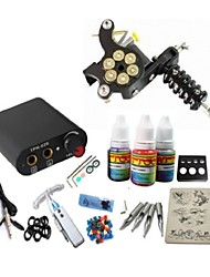 Basekey Tattoo Kit JH561 Gun Machine With Power Supply Grips 3x10ML Ink