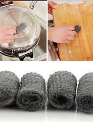 Cleaning Tool Pot Brush Magic Cleaner Melamine Sponge Metal Mesh Super Detergent Tool,Set of 12