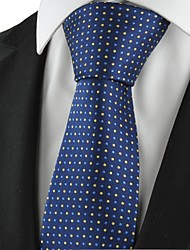 Polka Dot Navy Golden Classic Men Tie Formal Necktie Party Holiday Gift KT1037