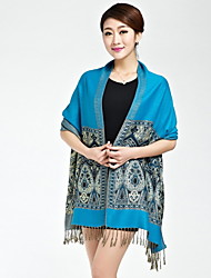 Ms. Spring And Summer National Wind Embroidery Printing Fringed Scarves Warm large Shawl