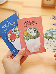 1PC Flowers N Sticky Note Creative Flowers And Plants  Colours Pad Note Pads(Style random)