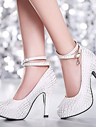 Women's Shoes Heel Heels / Platform Heels Office & Career / Dress / Casual Blue / Pink / White/725-1