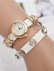 L.WEST Ladies' Gold Ring Belt Diamdons Quartz Watch Cool Watches Unique Watches