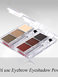 Red&Black 3 Colors Eyebrow Eyeshadow Palette Long-lasting Matte Fine Powder 3.6g