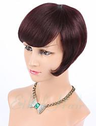 """8 """"humanos perucas de cabelo nenhum laço do cabelo brasileiro do cabelo humano perucas curta capless glueless perucas de cabelo humano"""