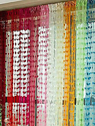 One Panel Designer Hearts Multicolour Polyester Panel Curtains Drapes