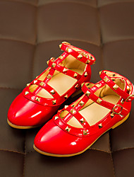 Girls' Shoes Dress / Casual Comfort Faux Leather Loafers Black / Pink / Red