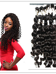4Pc/Lot Virgin Human Hair 100% Peruvian Hair Natural Color Deep Wave Hair Weft Bundles Hair