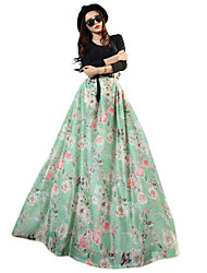 VERRAGEE A word skirt of tall waist pleated skirt long skirts