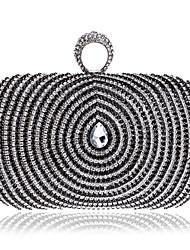 Women Metal Minaudiere Evening Bag-Gold / Black