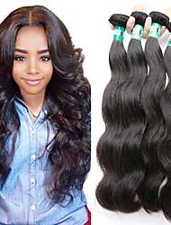 """4pcs / lot 8 """"-30"""" 5 bis capelli umani vergini brasiliani dell'onda del corpo dei capelli trame di 100% capelli non trattati remy"""