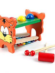 Multifunctional Wooden Toys for Preschool to Knock the Ball Playing Music on Celesta
