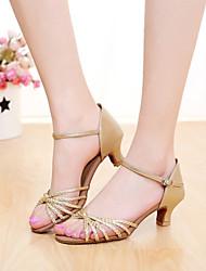 Zapatos de baile(Plata / Oro) -Latino / Salsa-Personalizables-Tacón Personalizado