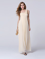 Ankle-length Tulle Bridesmaid Dress Ball Gown One Shoulder