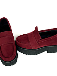 Punk Cuero 6 Tacón Cuña Rojo Zapatos de Lolita