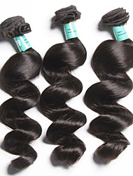 "3 Pcs /Lot ""12-28""5A Brazilian Virgin Hair Loose Wave Human Hair Weaves"
