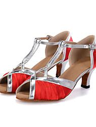 Customizable Women's Dance Shoes Belly / Latin / Jazz / Dance Sneakers / Modern / Swing Shoes / Samba Satin
