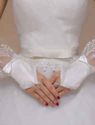 Wrist Length Fingerless Glove Lace / Tulle Bridal Gloves / Party/ Evening Gloves