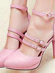 Women's Shoes Velvet/Stiletto Heel/Platform/Pointed Toe Heels Wedding Shoes/Party & Evening/Dress Black/Green