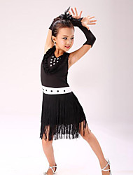 Latin Dance Children's Performance Polyester Sweet Tassel(s) Dresses Dance Costumes