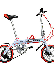 Folding Bike / Kids' Bike Cycling 6 Speed 14 Inch 44mm Unisex / Men's / Unisex kids Double Disc Brake Ordinary Aluminium Alloy Frame