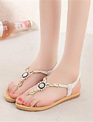 Women's Shoes Synthetic Flat Heel Flip Flops Sandals Dress / Casual Black / Red / Beige
