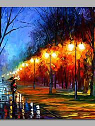 impressão paisagem pintura abstrata faca rua com maca